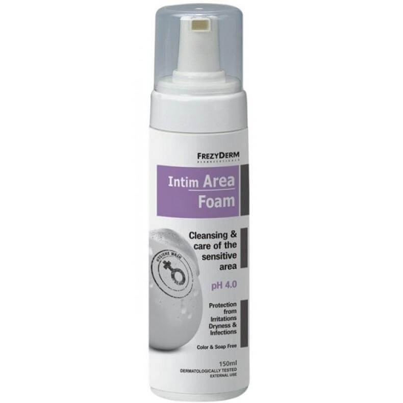 Frezyderm Intim Area Foam pH4 Απαλός Αφρός για τον Καθημερινό Αποτελεσματικό Καθαρισμό της Ευαίσθητης Περιοχής 150ml