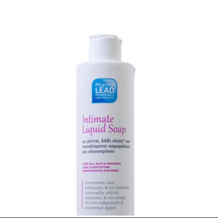 Pharmalead Intimate Liquid Soap Υγρό Σαπούνι Καθαρισμού για την ευαίσθητη περιοχή με Μέντα Ελιά & Εκχύλισμα Χαμομηλιού 250ml