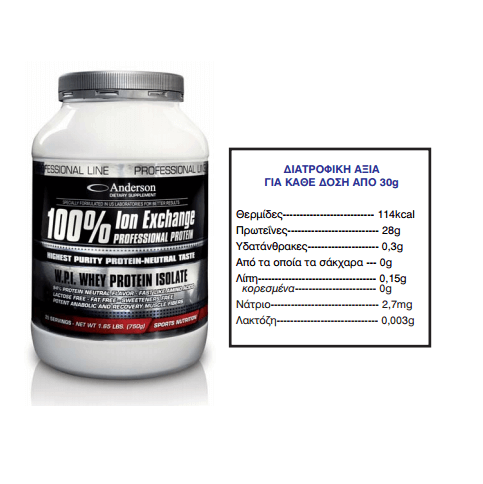 Anderson Ion Professional Neutral Flavor 100% Protein 750g