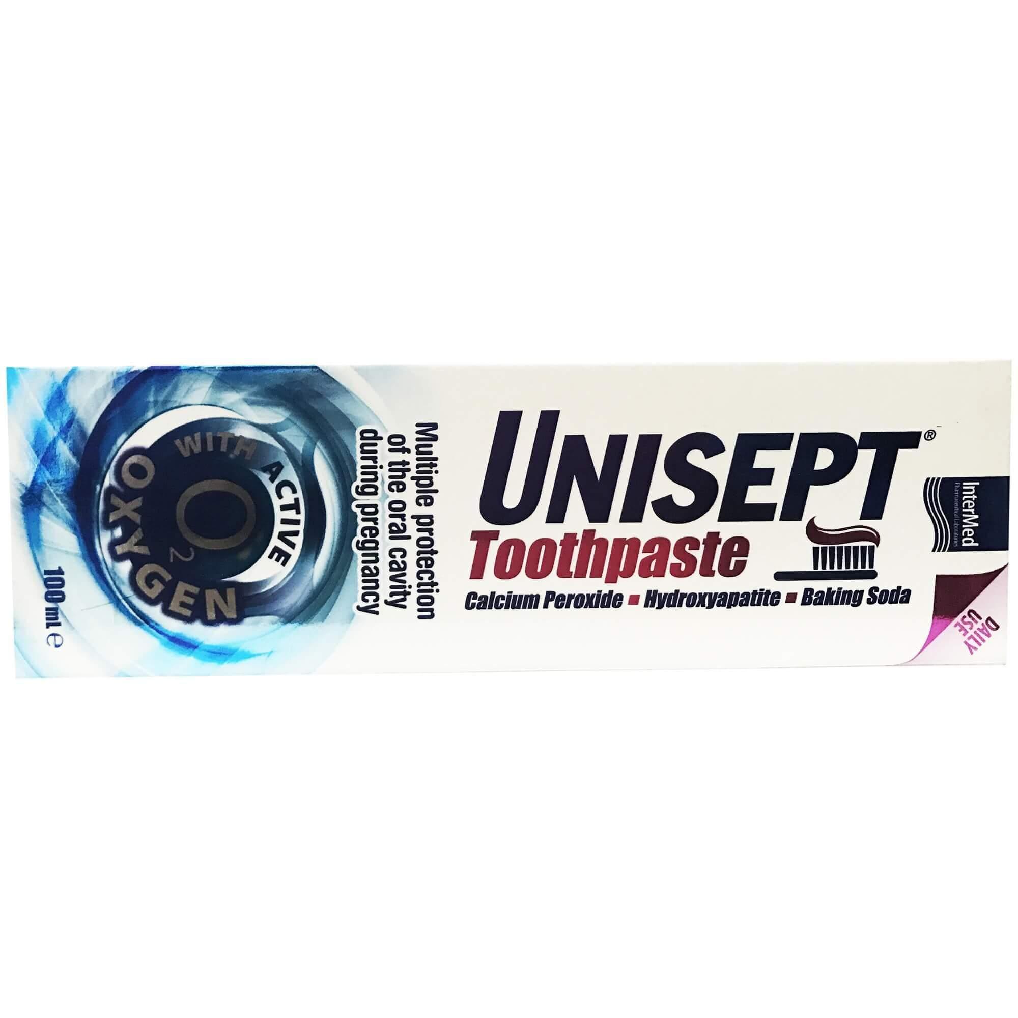 Intermed Unisept Toothpaste Οδοντόκρεμα Πολλαπλής Προστασίας Κατά τη Διάρκεια της Εγκυμοσύνης100ml