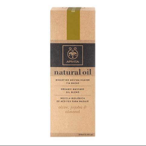 Apivita Natural Oil Βιολογικό Μείγμα Ελαίων Ελιά, Jojoba & Αμύγδαλο Για Μασάζ 100ml