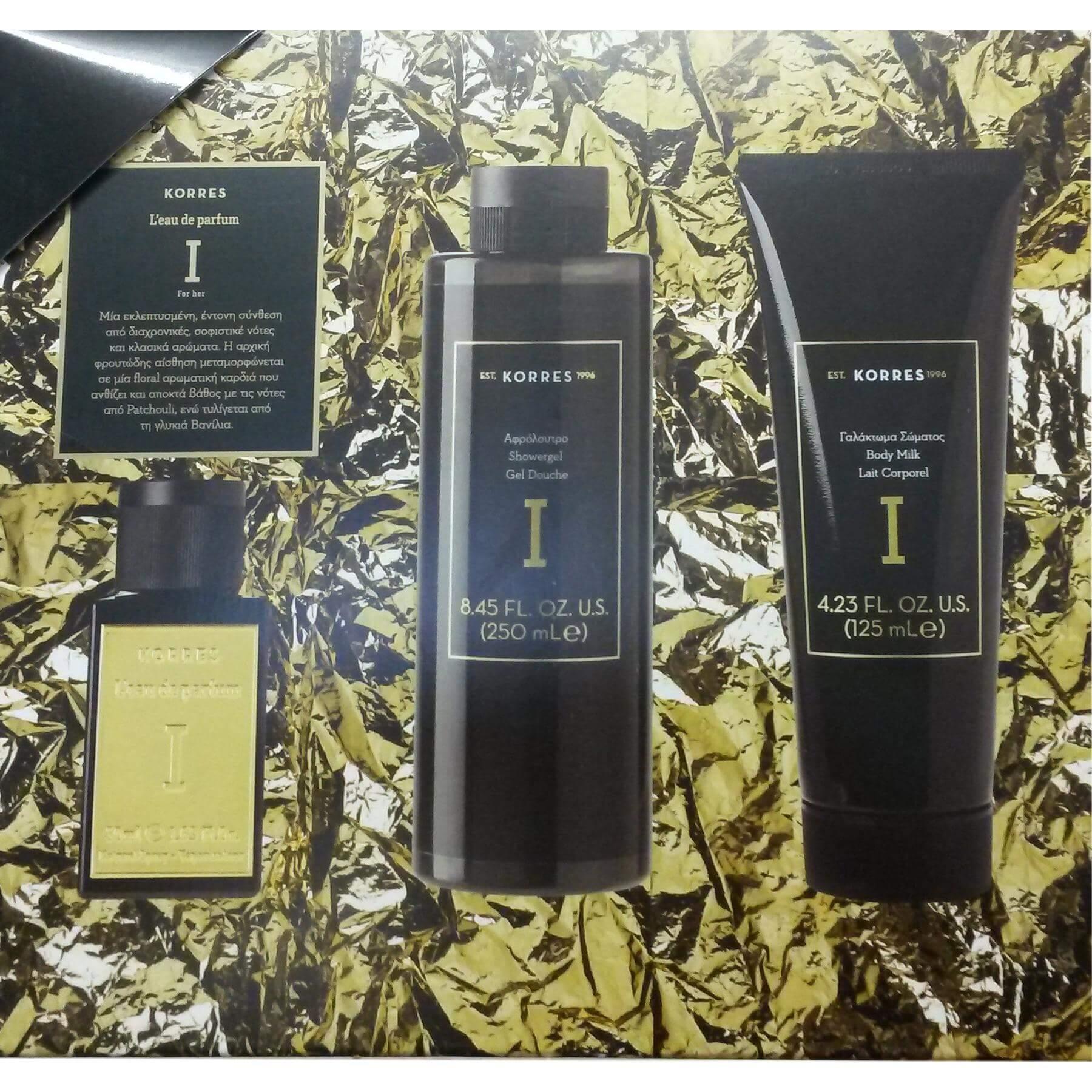 Korres Πακέτο Προσφοράς Γυναικείο Σετ Premium Eau De Parfum I 50ml & Αφρόλουτρο 250ml & Γαλάκτωμα Σώματος 125ml