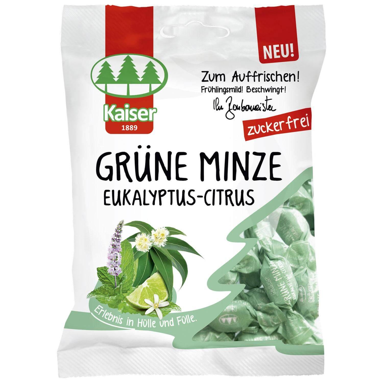 Kaiser Grune Minze Eukalyptus Citrus με Ευκάλυπτο, Δυόσμος και Lime Χωρίς Ζάχαρη 60gr