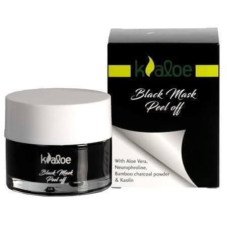 Kaloe Black Mask Peel Off, Μαύρη Μάσκα Καθαρισμού & Aπολέπισης για Λιπαρές Επιδερμίδες με Τάση Ακμής με Aloe Vera 50ml