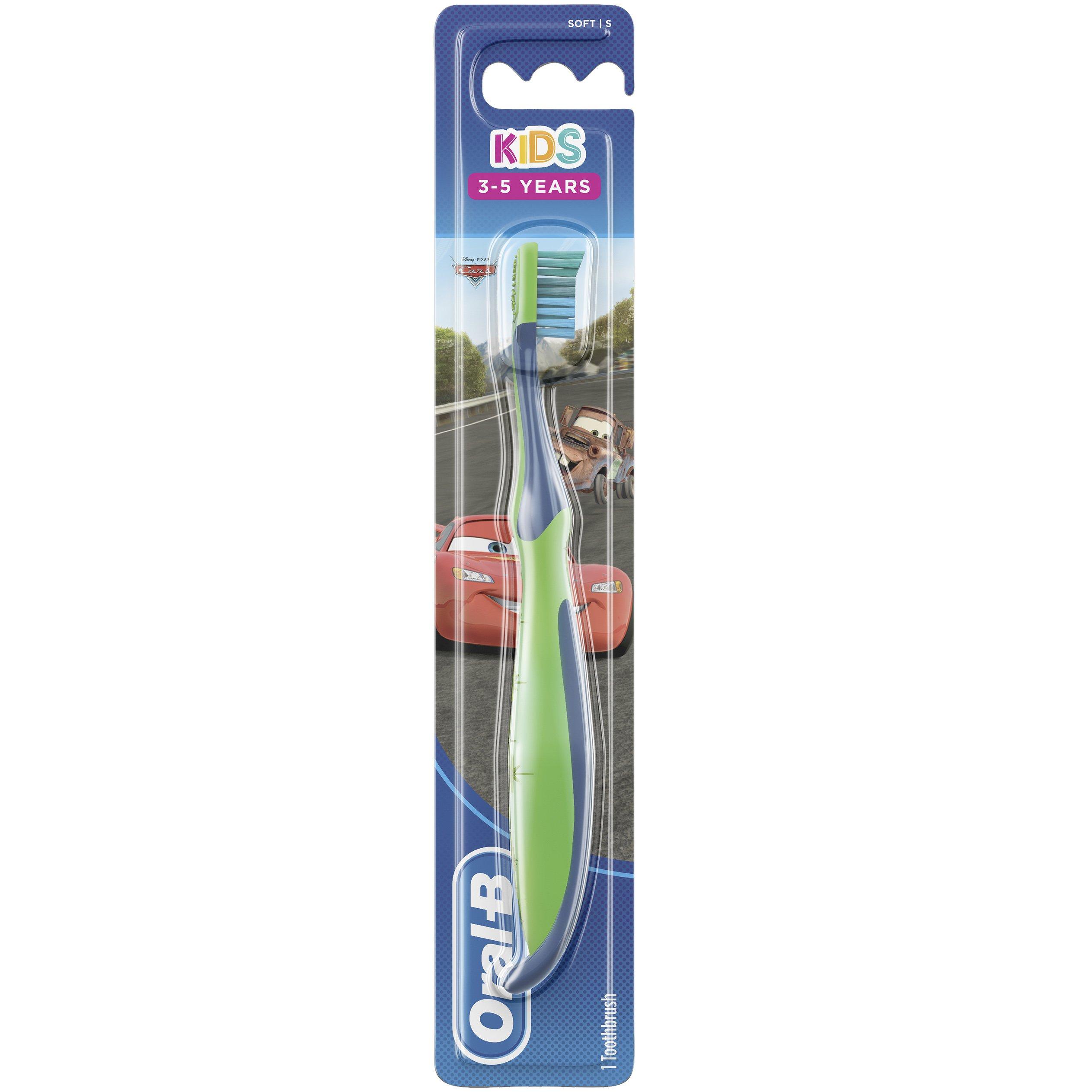 Oral-B Kids Cars Χειροκίνητη Παιδική Οδοντόβουρτσα Soft, 3-5 Ετών 1 Τεμάχιο – μπλέ