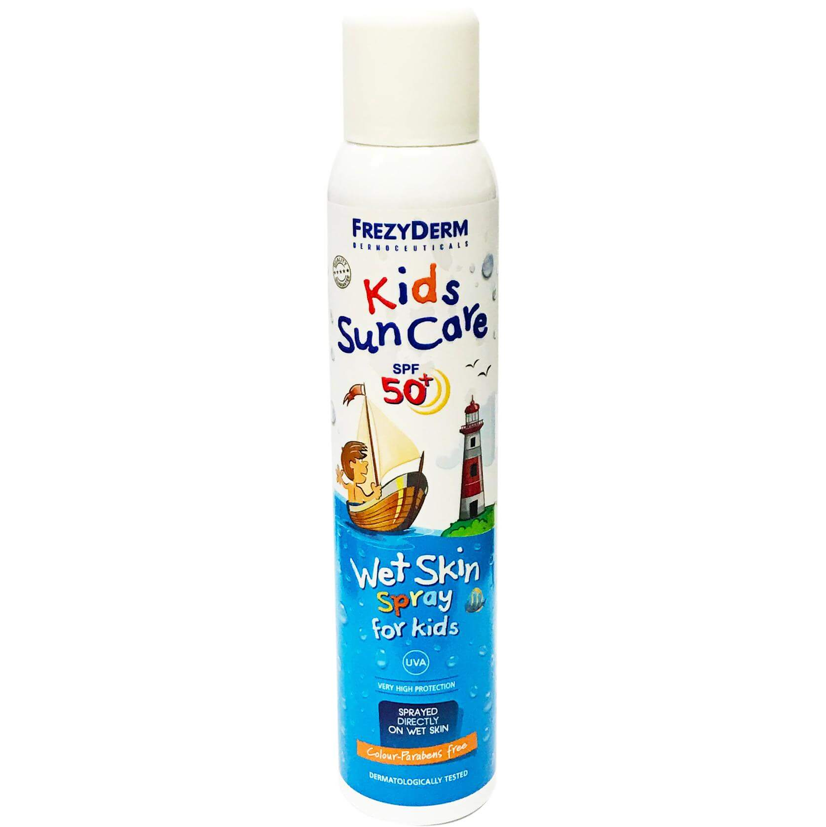 Frezyderm Kids Sun Care Water Skin Spf50+ Παιδικό Αντηλιακό Σπρέυγια Απευθείας Ψεκασμό σε Βρεγμένο Σώμα200ml