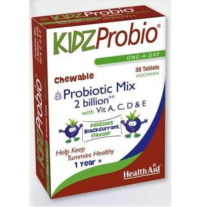 Health Aid Kidz Probio Εξαιρετική Σύνθεση Προβιοτικών 2 Δις Υψηλών Προδιαγραφών Για Παιδιά 30 Μασώμενες Ταμπλέτες