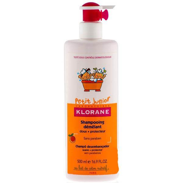 Klorane Petit Junior Shampooing Demelant Απαλό Παιδικό Σαμπουάν με Ροδάκινο 500ml