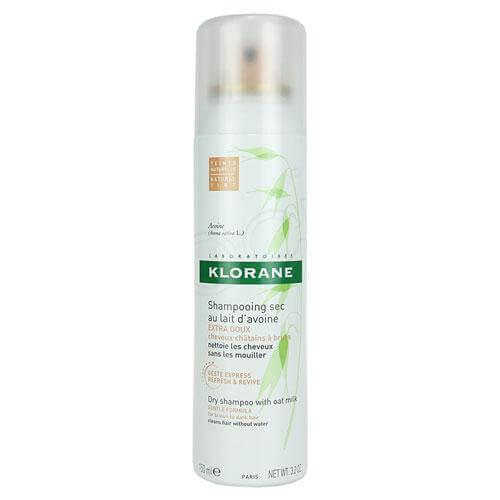 Klorane Shampoo Sec Spray Avoine Ξηρό Σαμπουάν Με Γαλάκτωμα Βρώμης για Ανοιχτά ή Σκούρα Καστανά Μαλλιά 150ml