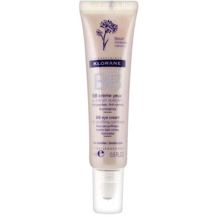 Klorane BB Eye Cream Tinted With Soothing Cornflower Roll-on Καλυπτική Κρέμα Ματιών Τριπλής Δράσης, για Ευαίσθητα Δέρματα 15ml
