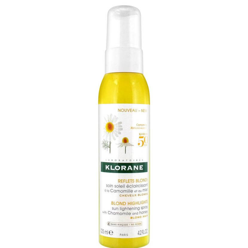 Klorane Blond Highlights Sun Lightening Spray With Chamomille & Honey Spray Ανάδειξης της Λάμψης στα Ξανθά Μαλλιά 125ml