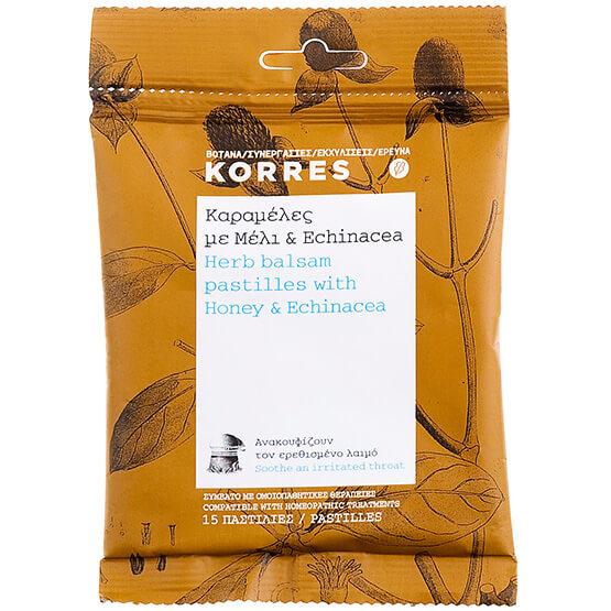 Korres Καραμέλες με Μέλι & Echinacea 15 Παστίλιες