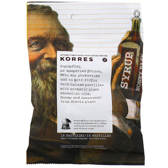 Korres Καραμέλες με Αρωματικά Βότανα Μέλι &Γλυκαντικό Από Φυτό Στέβια 16 Τεμάχια