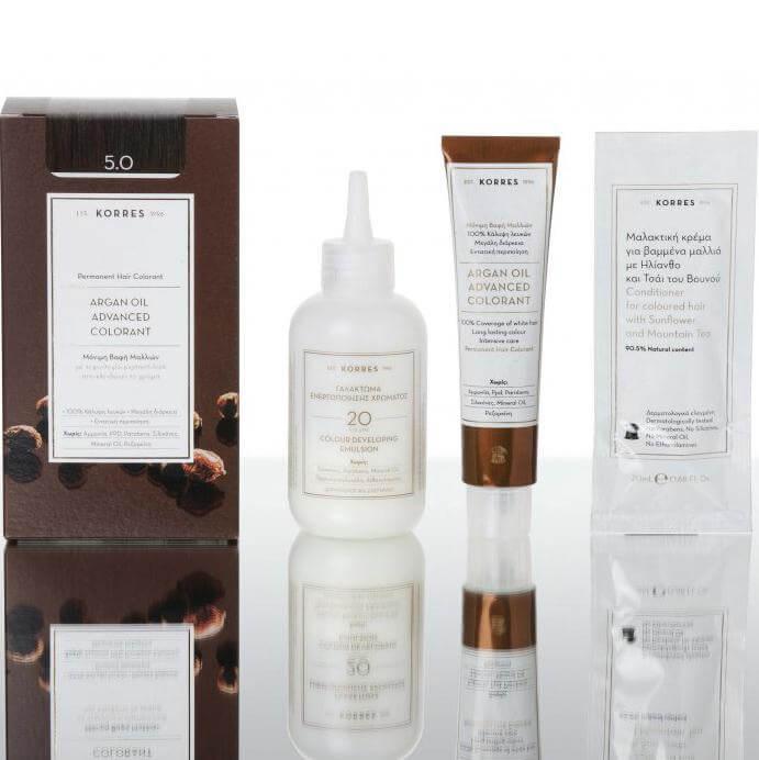 Korres Argan Oil Advanced Colorant Μόνιμη Βαφή Μαλλιών Με Τεχνολογία Pigment-Lock Που Κλειδώνει Το Χρώμα 1,70Fl. Oz.50ml – 12.0 Ξανθό Special Blonde