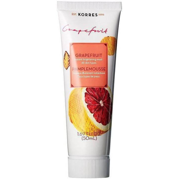 Korres Μάσκα Άμεσης Λάμψης Grapefruit Όλοι οι Τύποι Δέρματος 18ml