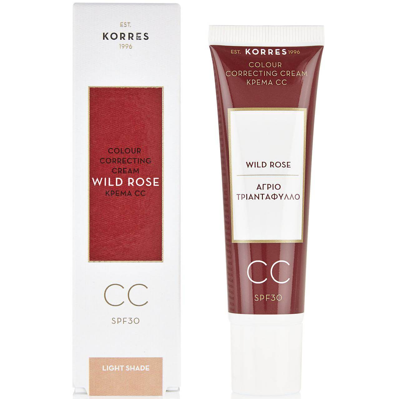 Korres Άγριο Τριαντάφυλλο CC Cream SPF 30 Ενυδατική Κρέμα για Κάλυψη των Ατελειών 30ml – Medium Shade