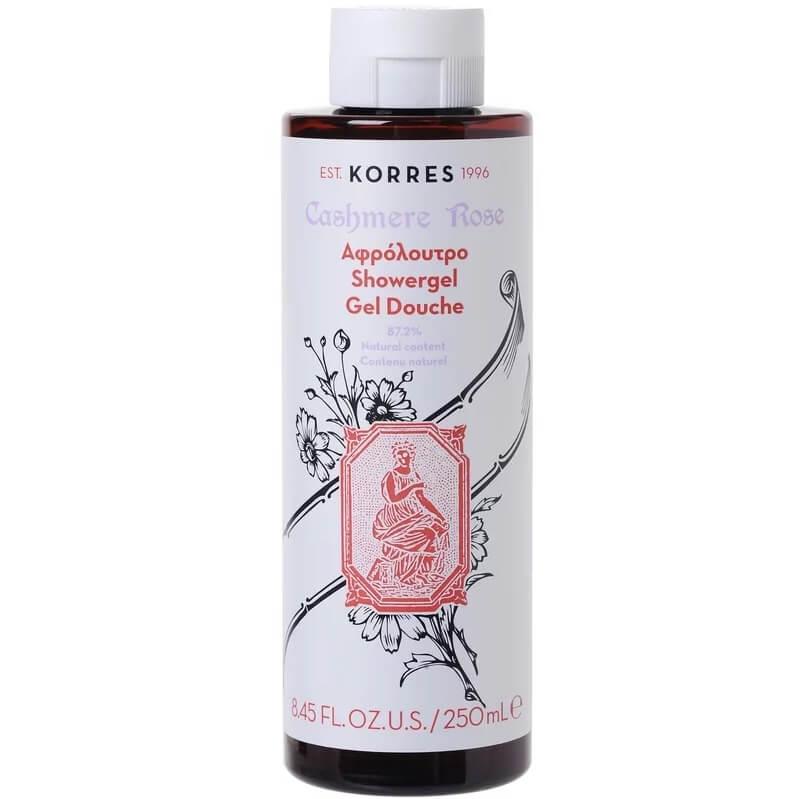 Korres ShowergelCashmere Rose ΑφρόλουτρομεΆρωμα Τριαντάφυλλου 250ml