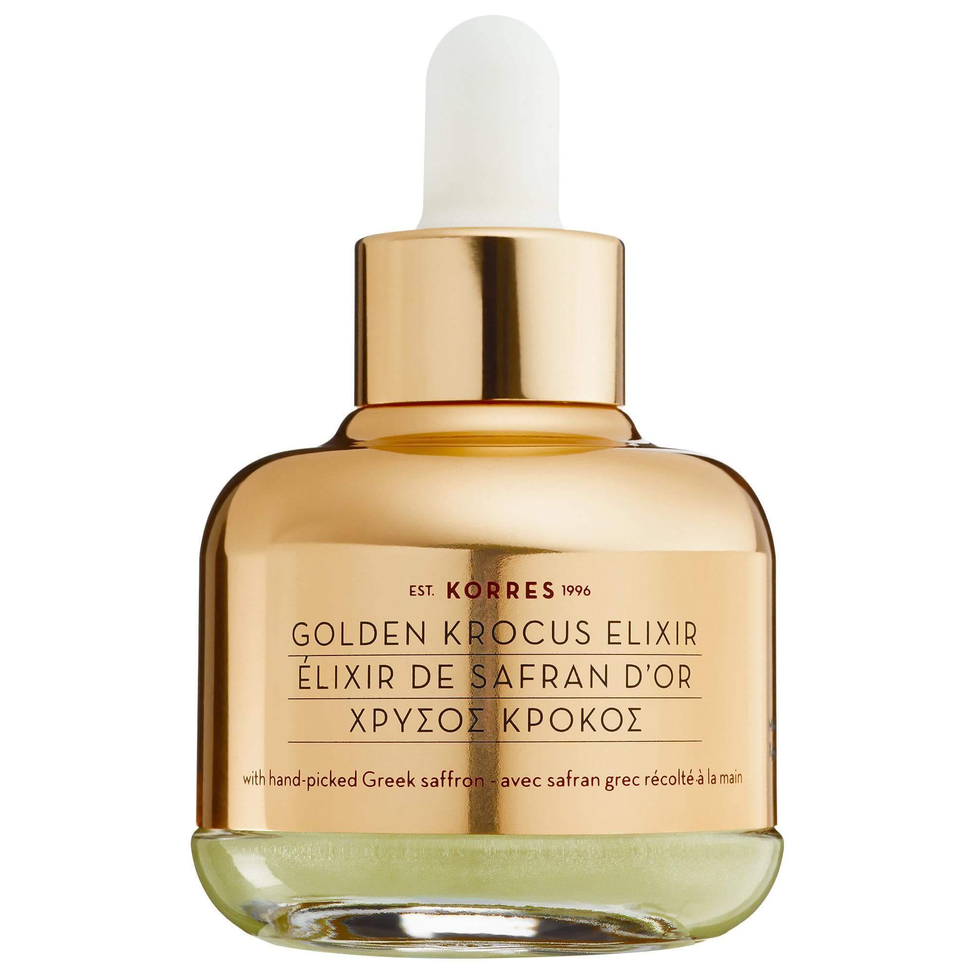 Korres Golden Krocus Elixir, Ελιξήριο Ομορφιάς & Νεότητας με Χρυσό Κρόκο 30ml
