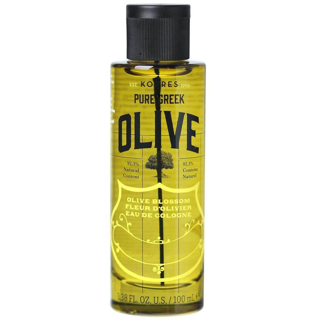 Korres Pure Greek Olive Eau de Cologne Olive Blossom Αναζωογονητική Κολώνια με Άρωμα από Άνθη Ελιάς 100ml