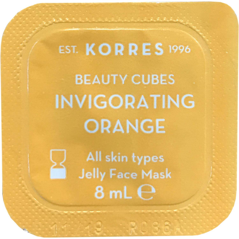 Korres Beauty Cubes Invigorating Orange Jelly Face Mask Μάσκα Αναζωογόνησης & Τόνωσης με Πορτοκάλι, Όλοι οι Τύποι Δέρματος 8ml