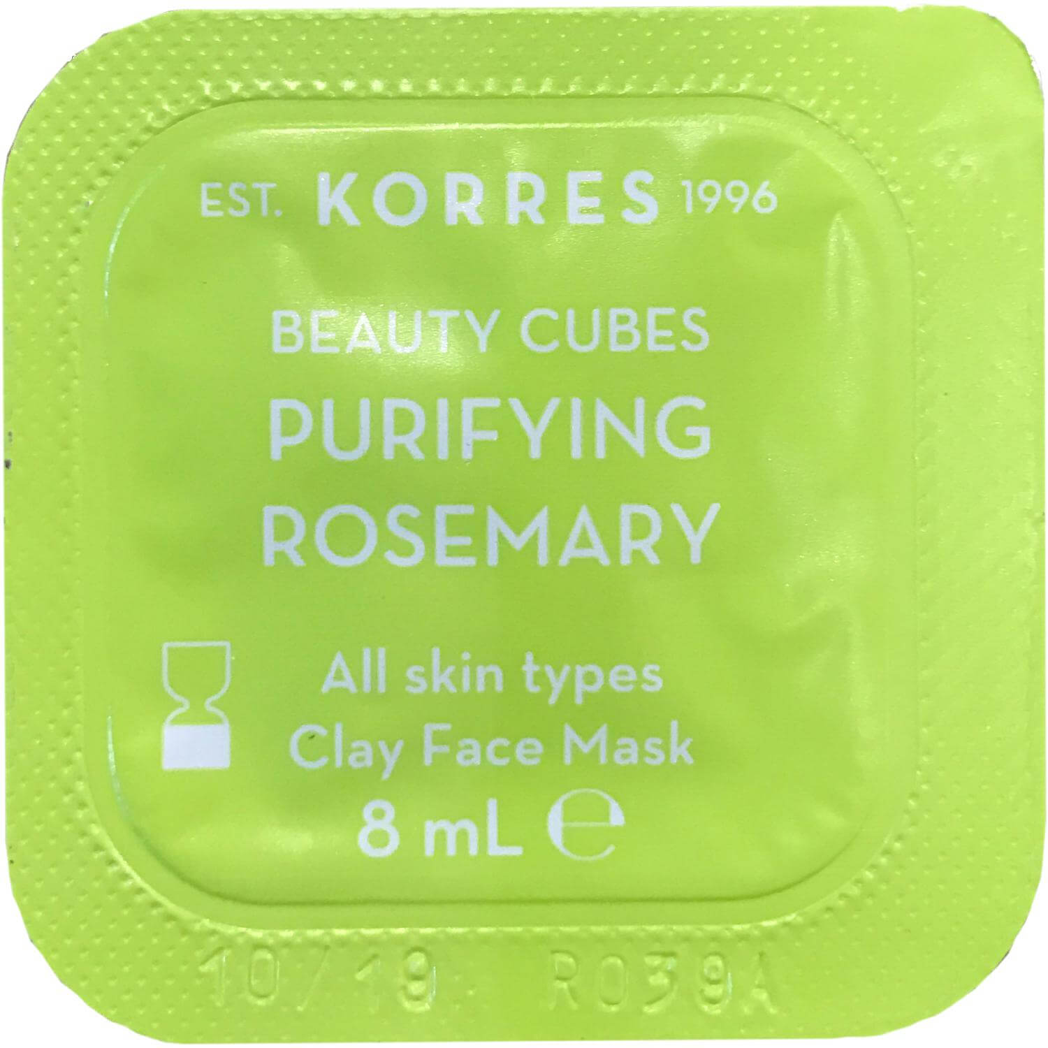 Korres Beauty Cubes Purifying Rosemary Clay Face Mask Mάσκα Πηλός για Βαθύ Καθαρισμό με Δενδρολίβανο 8ml