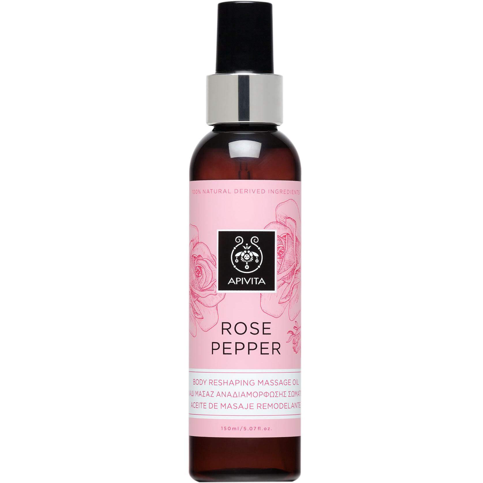 Apivita Rose Pepper Λάδι Μασάζ Αναδιαμόρφωσης Σώματος 150ml