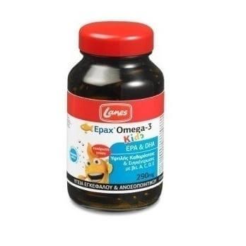Lanes Epax Omega-3 Kids 290mg, Παιδικό Συμπλήρωμα Διατροφής 60 Μασώμενες Κάψουλες