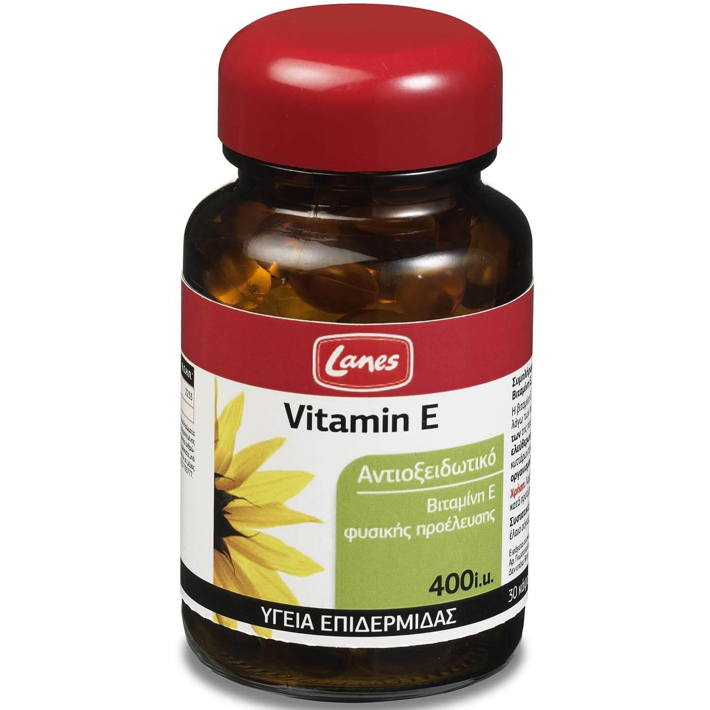 Lanes Vitamin E 400iu Συμπλήρωμα Διατροφής με Βιταμίνη Ε 30caps