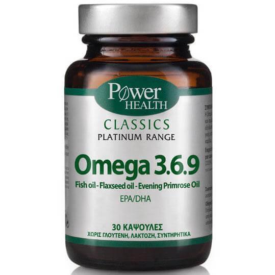 Power Health Platinum RangeOmega 3.6.9 Συμπλήρωμα Διατροφής για τη Φυσιολογική Λειτουργία της Καρδιάς30caps