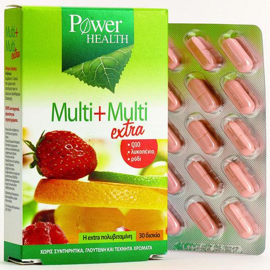 Power Health Multi-Multi extra Ένας Ενισχυμένος Συνδυασμός Με Όλες Τις Βιταμίνες 30 ταμπλέτες