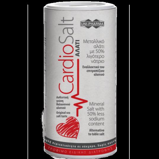 Uni-Pharma CardioSalt Μεταλλικό Αλάτι με 50% Λιγότερο Νάτριο που Αποτελεί Τρόφιμο Ειδικής Διατροφής 250gr