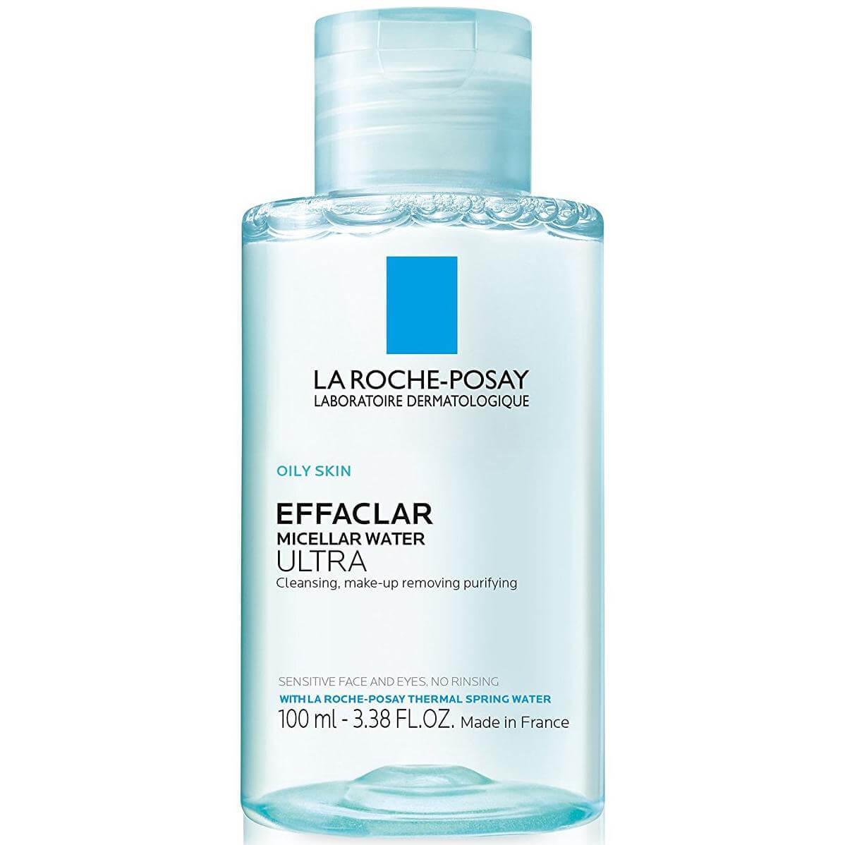 La Roche Posay Effaclar Micellar Water Ultra Απαλό Νερό Καθαρισμού Προσώπου Ματιών για το Λιπαρό Δέρμα Travel Size 100ml