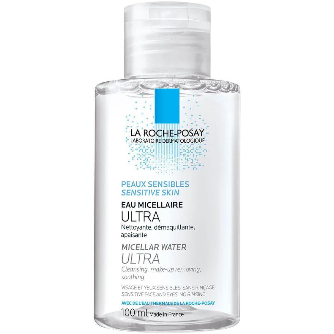 La Roche-Posay Micellar Water Ultra Sensitive Skin Απαλό Νερό Καθαρισμού Προσώπου & Ματιών για Ευαίσθητο Δέρμα Travel Size 100ml
