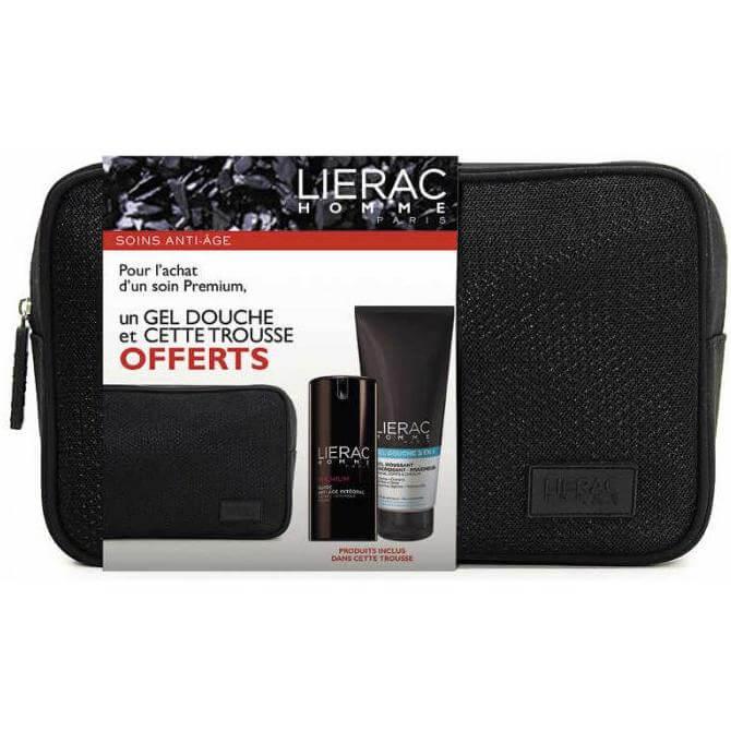 Lierac Πακέτο Προσφορές Premium Fluide Anti-Age Integral 40ml & Δώρο Gel Douche 3 σε 1 200ml & Nεσεσέρ