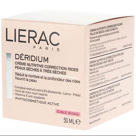 Lierac Deridium Κρέμα Θρέψης Κατά Της Γήρανσης Για Ξηρές Και Πολύ Ξηρές Επιδερμίδες 50ml