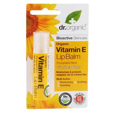 Dr Organic Organic Vitamin E Lip Balm Lip Balm Χειλιών με Βιολογική Βιταμίνη E 5.7ml