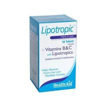 Health Aid Lipotropics with Vitamins B & C Ενισχύει τις Μεταβολικές Λειτουργίες 60 Tablets