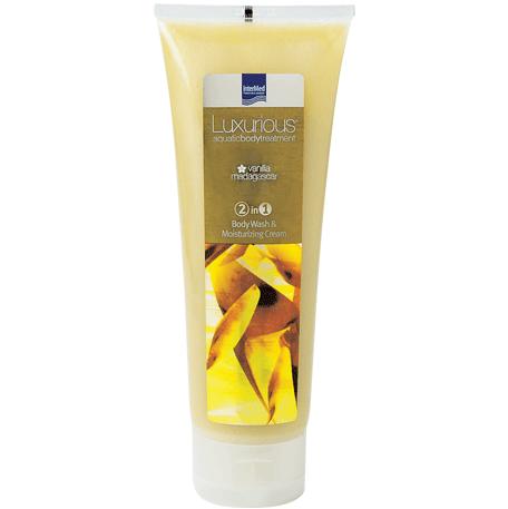 Intermed Luxurious Body Wash 2 in 1 Vanilla Αφρόλουτρο & Ενυδατική Κρέμα με Άρωμα Βανίλια Μαδαγασκάρης 250ml