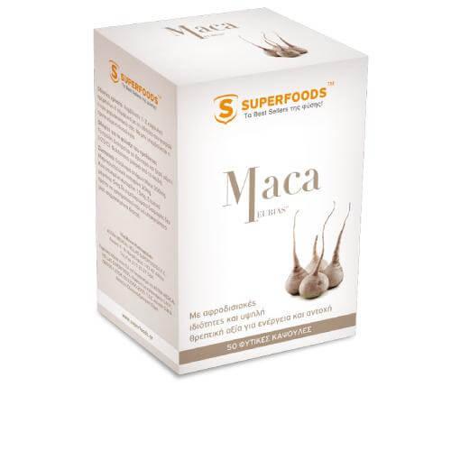 Superfoods Maca EUBIAS™ Super-Αφροδισιακή Δράση 50caps