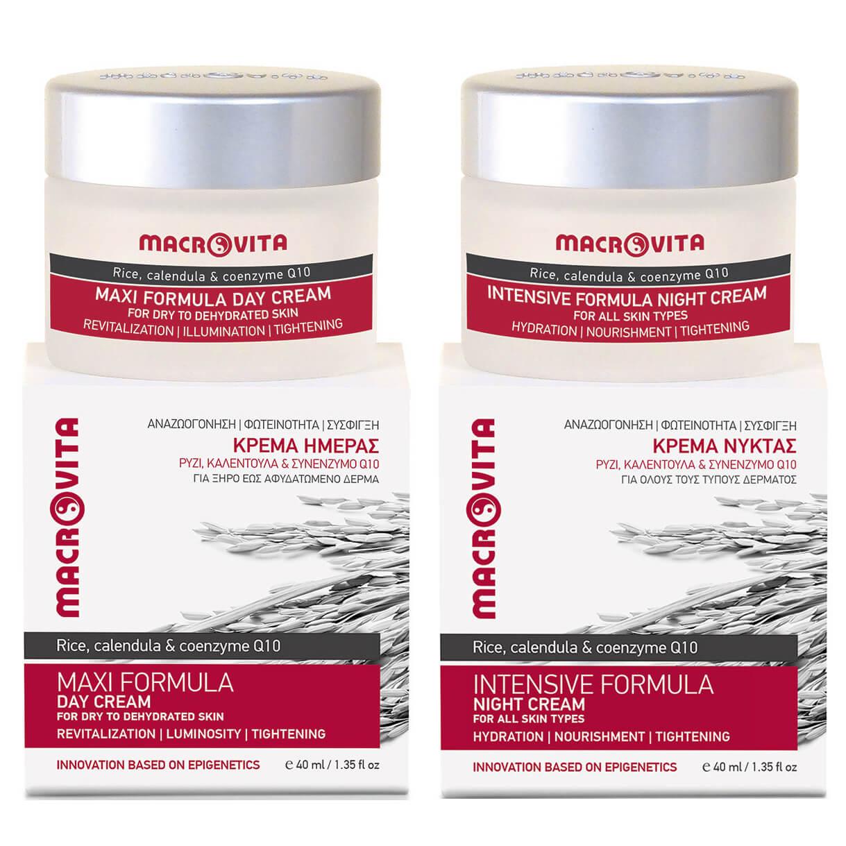 Macrovita Πακέτο Προσφοράς Maxi Formula Day Cream 40ml & Δώρο Intensive Formula Night Cream 40ml & Πρακτικό Νεσεσέρ