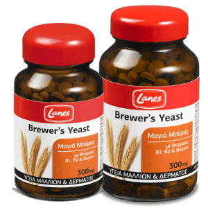 Lanes Brewer's Yeast 300mg Συμπλήρωμα Διατροφής Με Μαγιά Μπύρας Βιταμίνες Β1, Β2 & Βιοτίνη – 200 tabs