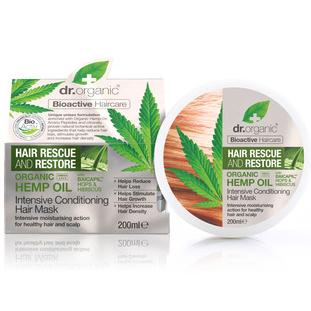 Dr. Organic Hemp Oil Intensive Conditioning Hair Mask Επανορθωτική Μάσκα Μαλλιών που Δυναμώνει την Τρίχα & Δίνει Όγκο 200ml