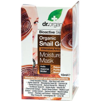 Dr.Organic Snail Gel Intensive Anti-Aging Moisture Mask Εντατική Μάσκα Αντιγήρανσης και Ενυδάτωσης 10ml
