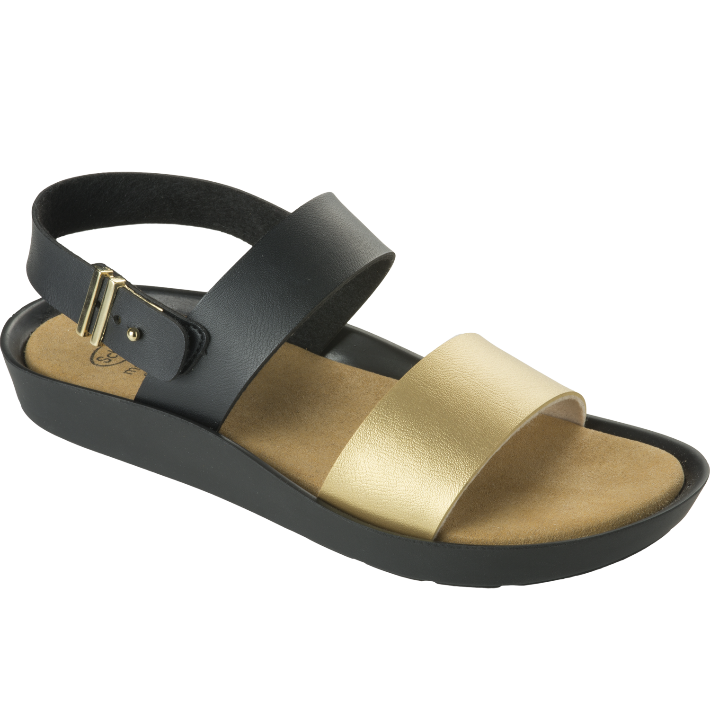 Dr Scholl Shoes Mamore Μαύρο-Χρυσό, Γυναικεία Ανατομικά Παπούτσια, Χαρίζουν Σωστή Στάση & Φυσικό, Χωρίς Πόνο Βάδισμα 1 Ζευγάρι – 38