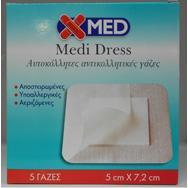X-Med Medi Dress Αυτοκόλλητες Αντικολλητικές Γάζες – 10cm X 8cm