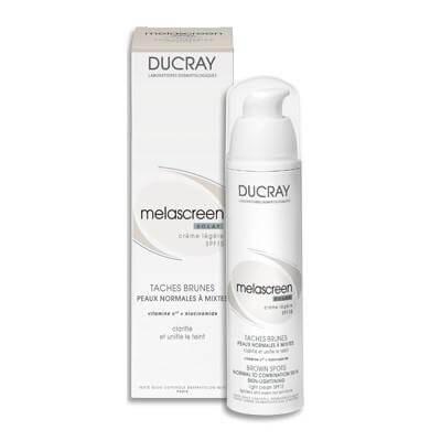 Ducray Melascreen Eclat Creme Legere SPF 15 40ml, Κρέμα για Δυσχρωμίες ελαφριάς υφής