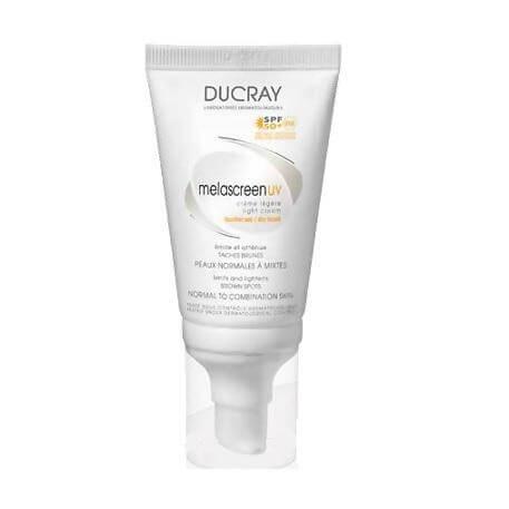 Ducray Melascreen UV Creme Legere Spf50, Αντηλιακή κρέμα με λεπτόρρευστη υφή κατάλληλη για τη μείωση των δυσχρωμιών 40ml