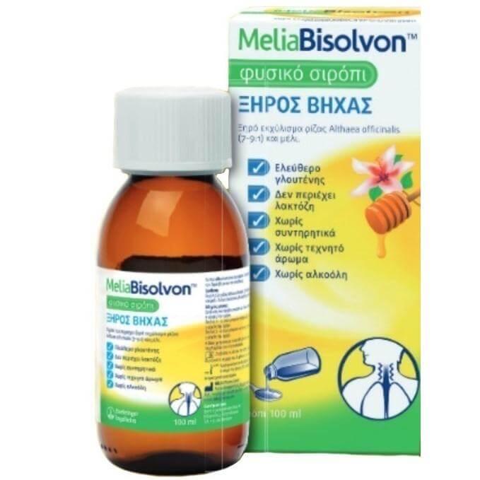 Boehringer Ingelheim Melia Bisolvon Φυσικό Καταπραϋντικό Σιρόπι Για τον Ξηρό Βήχα 100ml