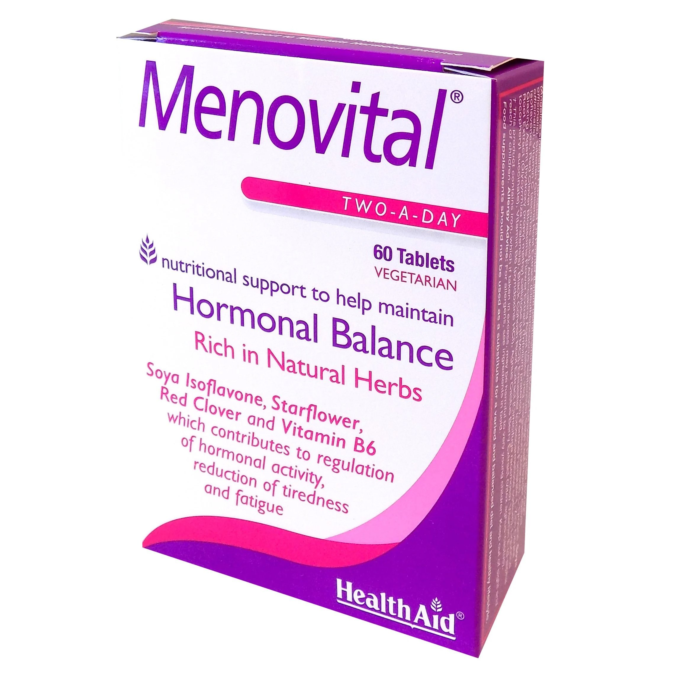 Health Aid Menovital Συμπλήρωμα Διατροφής, Φροντίδα για την Εμμηνόπαυση 60tabs