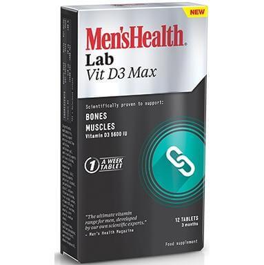 Mens Health Lab Vit D3 Max Για Τη Διατήρηση Της Υγείας Των Οστών Και Των Μυών 12 Caps